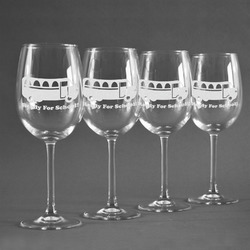 School Bus Wineglasses (Set of 4) (Personalized)