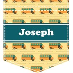 School Bus Iron On Faux Pocket (Personalized)