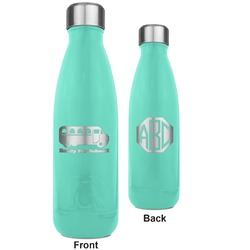 School Bus RTIC Bottle - Teal - Engraved Front & Back (Personalized)