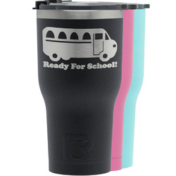 School Bus RTIC Tumbler - Black (Personalized)