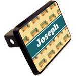 """School Bus Rectangular Trailer Hitch Cover - 2"""" (Personalized)"""