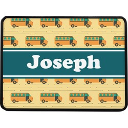 """School Bus Rectangular Trailer Hitch Cover - 1.25"""" (Personalized)"""