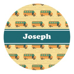 School Bus Round Decal - Custom Size (Personalized)