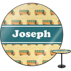 School Bus Round Table (Personalized)
