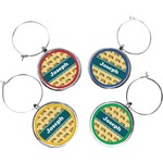 School Bus Wine Charms (Set of 4) (Personalized)