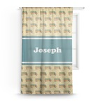 School Bus Sheer Curtains (Personalized)
