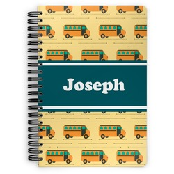 School Bus Spiral Bound Notebook (Personalized)