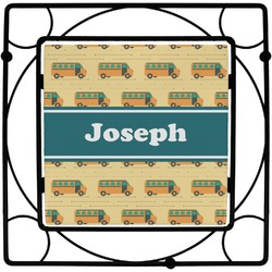 School Bus Square Trivet (Personalized)