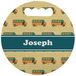 School Bus Stadium Cushion (Round) (Personalized)