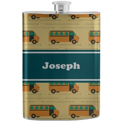 School Bus Stainless Steel Flask (Personalized)