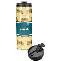 School Bus Stainless Steel Skinny Tumbler (Personalized)