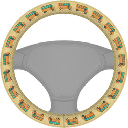 School Bus Steering Wheel Cover (Personalized)