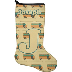 School Bus Christmas Stocking - Neoprene (Personalized)