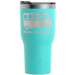 School Bus RTIC Tumbler - Teal - 30 oz (Personalized)