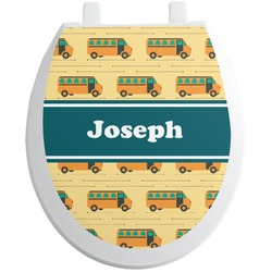 School Bus Toilet Seat Decal (Personalized)