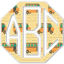 School Bus Monogram Decal - Custom Sized (Personalized)