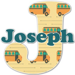 School Bus Name & Initial Decal - Custom Sized (Personalized)