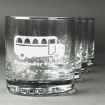 School Bus Whiskey Glasses (Set of 4) (Personalized)