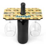 School Bus Wine Bottle & Glass Holder (Personalized)