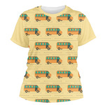 School Bus Women's Crew T-Shirt (Personalized)