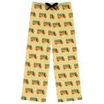 School Bus Womens Pajama Pants (Personalized)