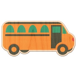 School Bus Genuine Wood Sticker (Personalized)