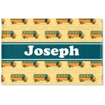 School Bus Woven Mat (Personalized)