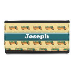 School Bus Leatherette Ladies Wallet (Personalized)