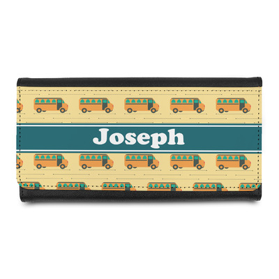 School Bus Leatherette Ladies Wallet (Personalized)