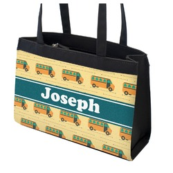 School Bus Zippered Everyday Tote (Personalized)