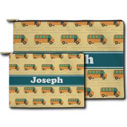 School Bus Zipper Pouch (Personalized)