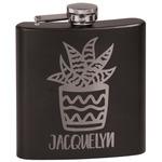 Cactus Black Flask Set (Personalized)