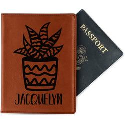 Cactus Leatherette Passport Holder (Personalized)