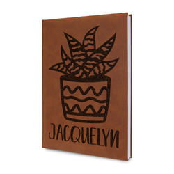 Cactus Leatherette Journal (Personalized)