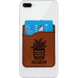 Cactus Leatherette Phone Wallet (Personalized)