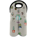 Cactus Wine Tote Bag (2 Bottles) (Personalized)