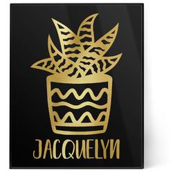 Cactus 8x10 Foil Wall Art - Black (Personalized)