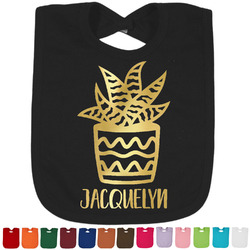 Cactus Foil Toddler Bibs (Select Foil Color) (Personalized)