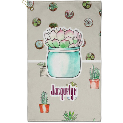 Cactus Golf Towel - Full Print - Small w/ Name or Text