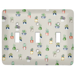 Cactus Light Switch Cover (3 Toggle Plate) (Personalized)