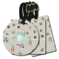 Cactus Plastic Luggage Tags (Personalized)