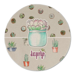 Cactus Round Linen Placemat (Personalized)