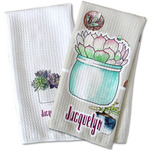 Cactus Waffle Weave Kitchen Towel (Personalized)