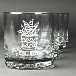 Cactus Whiskey Glasses (Set of 4) (Personalized)