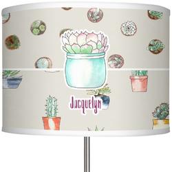 """Cactus 13"""" Drum Lamp Shade (Personalized)"""