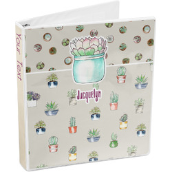 Succulents 3-Ring Binder (Personalized)