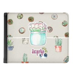 Cactus Genuine Leather Men's Bi-fold Wallet (Personalized)