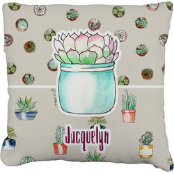 """Cactus Faux-Linen Throw Pillow 26"""" (Personalized)"""