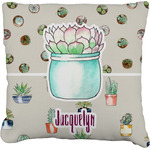 Cactus Faux-Linen Throw Pillow (Personalized)