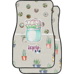 Cactus Car Floor Mats (Front Seat) (Personalized)